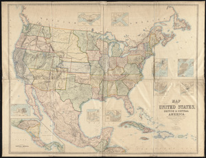 Map of the United States, British & Central America