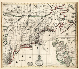 A new mapp of New England and Annapolis and the countrys adjacent