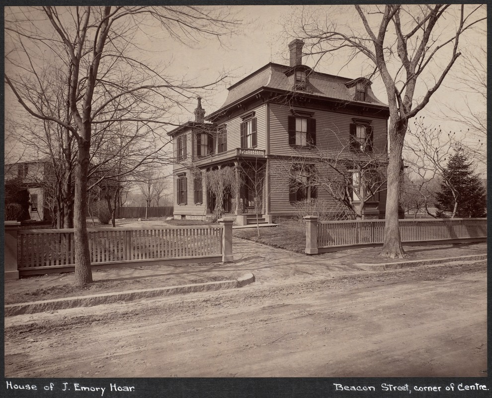 J. Emory Hoar house, Beacon & Centre Sts.