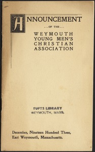 Announcement of the Weymouth Young Men's Christian Association