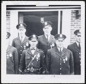 Francis Maquire, R[?] Ells, George Conners, Gerard Kelso, Charles Boyle, Ralph Smith, Capt. DiAngelo