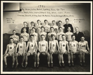 Photograph [realia], 1941 basketball team