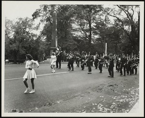 Old Fashioned Days, 1952: Lenox High School Band marching in the parade
