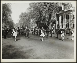 Old Fashioned Days, 1953: Lenox High School Band marching in the parade