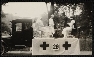1922 4th of July Parade: Red Cross float