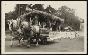 1921 4th of July Parade: Lenox Grange float