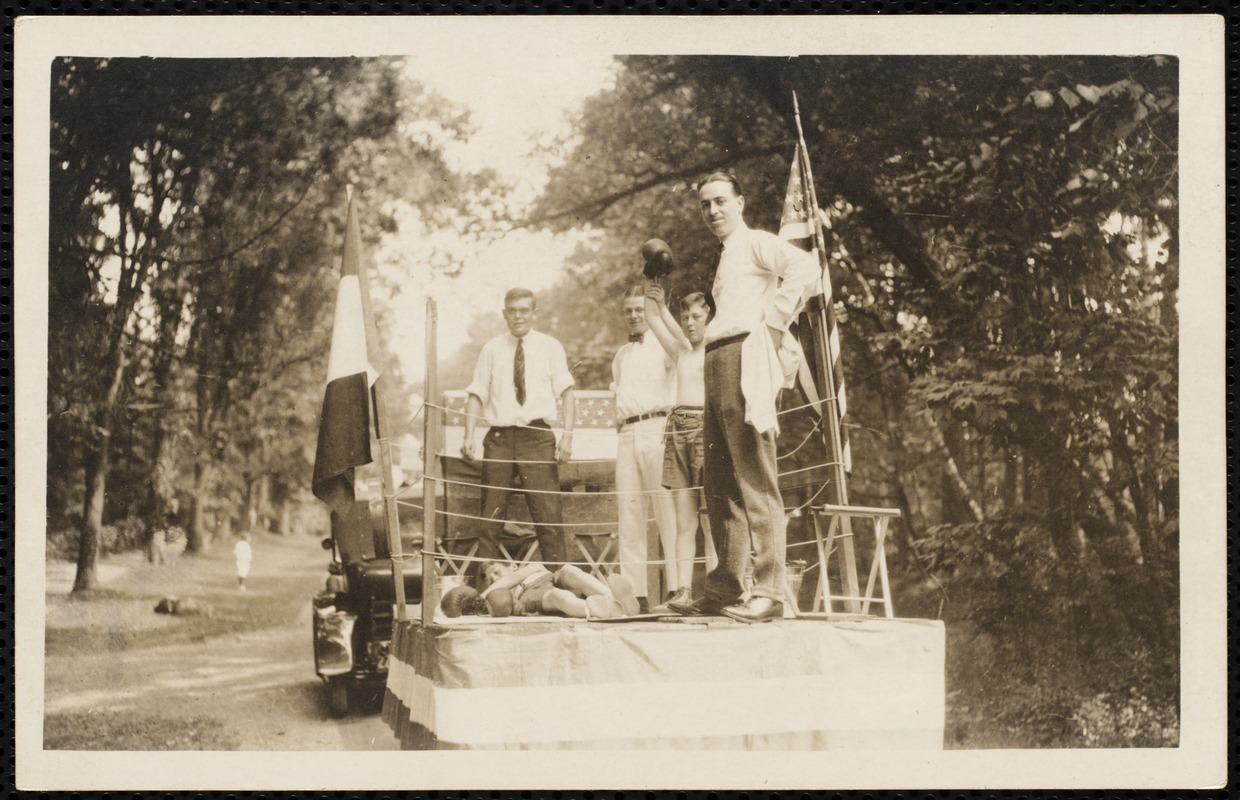 1921 4th of July Parade: Prize fight float