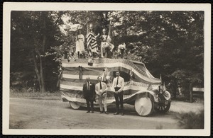 1921 4th of July Parade: Alfred Conte's float