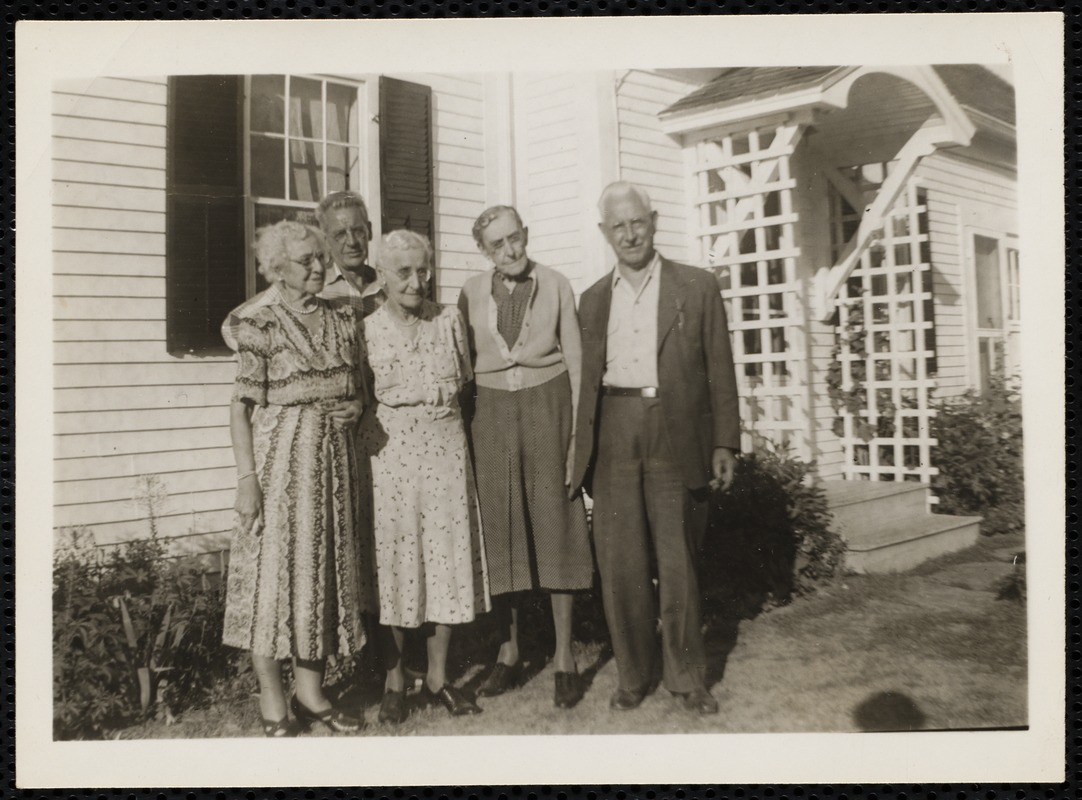 Kendall siblings & Charles M. Sears, Jr. at Lamp-Post Farm in Lyme, N.H.
