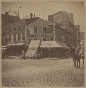 Boston, Sun Tavern, Dock Square, 1690