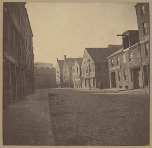 Boston, Fulton Street, old buildings, taken down in 1896.