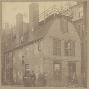 Boston, Clough House, Sheafe Street, before 1725