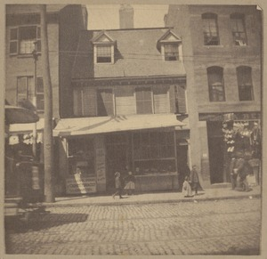 Boston, Cotton Mather House, Hanover St., 1677.
