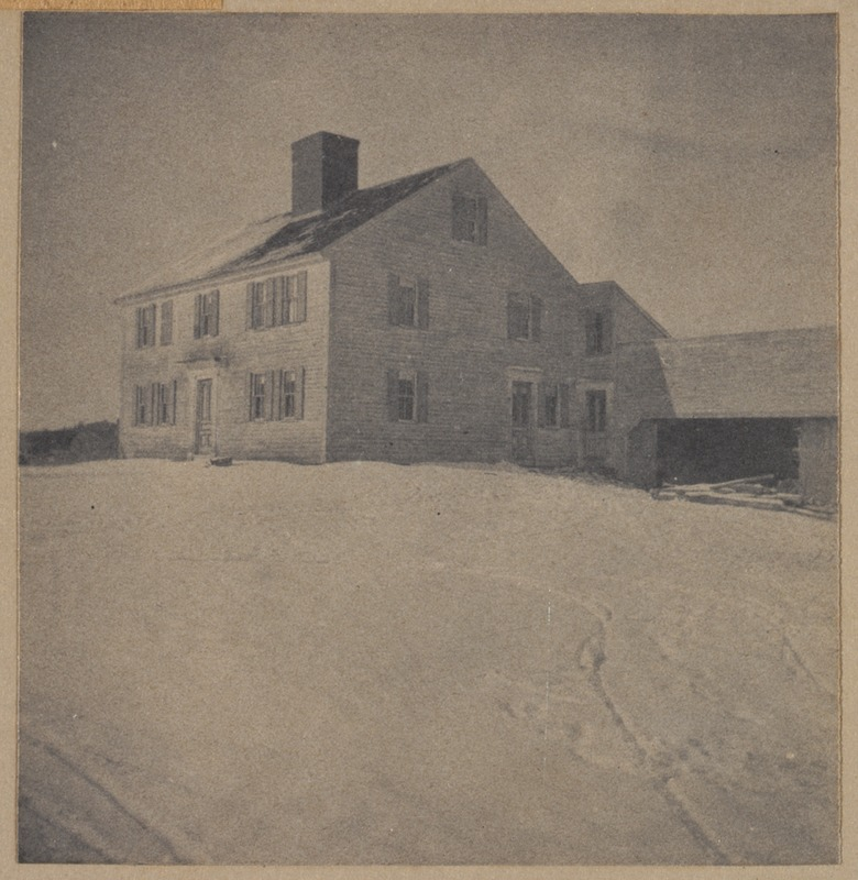 Bedford, Samuel Davis homestead, built 1690. The present-owner, 7th in direct succession has the original and only deed of the farm.