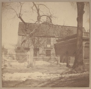 Salem, Roger Williams house, built before 1634.