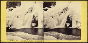 Winter view at Glen Ellis Falls, White Mountains, N. H.