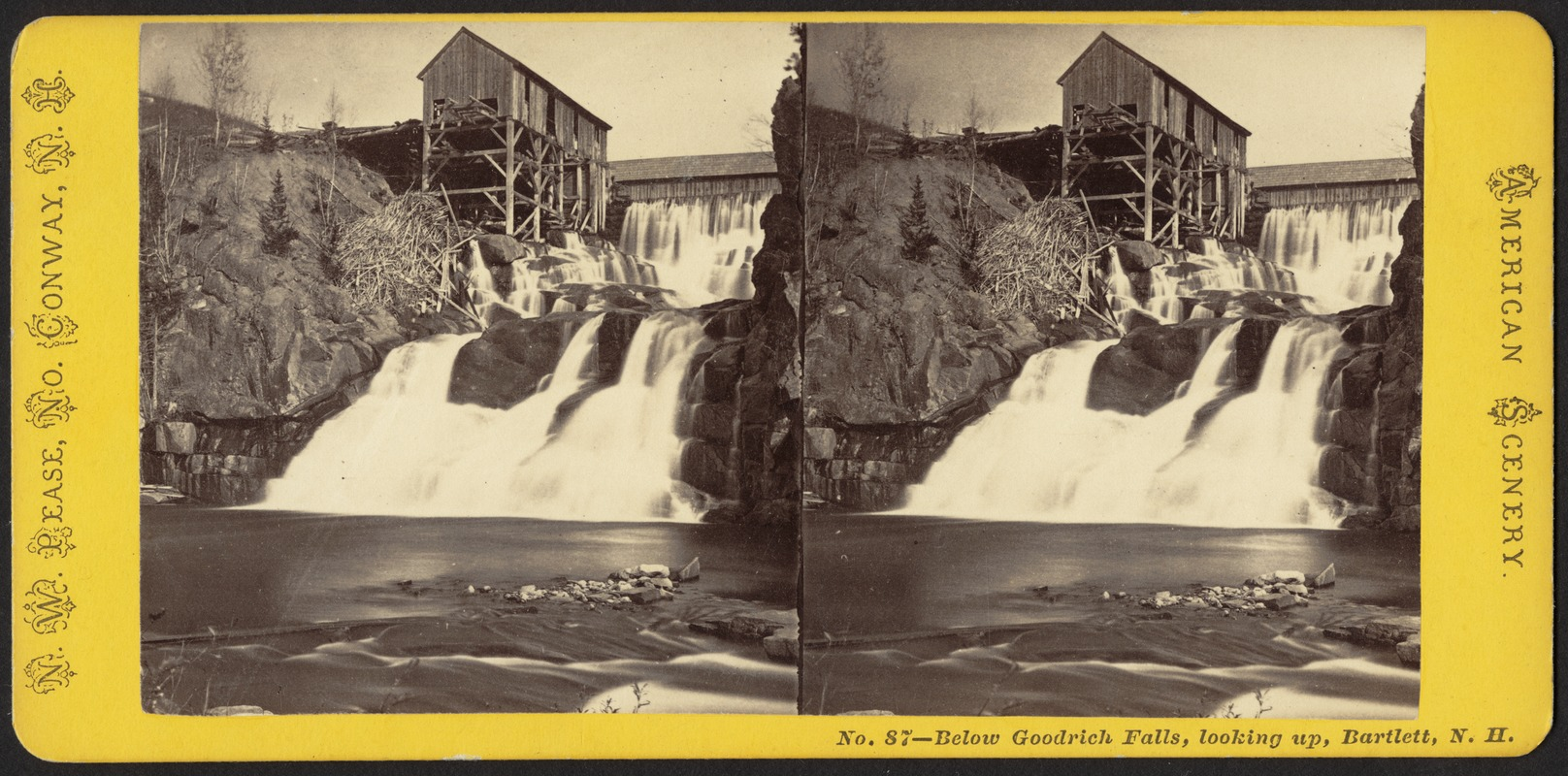 Below Goodrich Falls, looking up, Bartlett, N. H.
