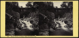 Nancy's Brook and bridge - White Mountains, N. H.