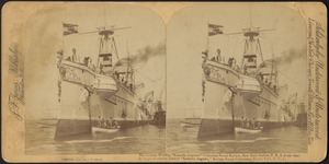 "The German warship ""Kaiserin Augusta"" Columbus Naval Review, New York Harbor, U.S.A. (rear view)"