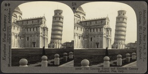 The leaning tower, and cathedral, Pisa, Italy