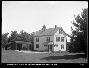 Sudbury Department, Ashland Reservoir, Attendant's house, Ashland, Mass., Apr. 28, 1910