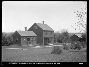 Sudbury Department, Hopkinton Reservoir, Attendant's house, Ashland, Mass., Apr. 28, 1910