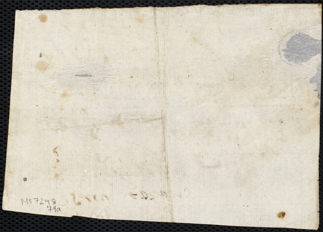 Document of indenture: Servant: Squire, John. Master: Lealand, Isaac. Town of Master: Sherburn. Selectmen of the town of Sherburn autograph document signed to the Overseers of the Poor of Boston: Endorsement Certificate for Issac Lealand.