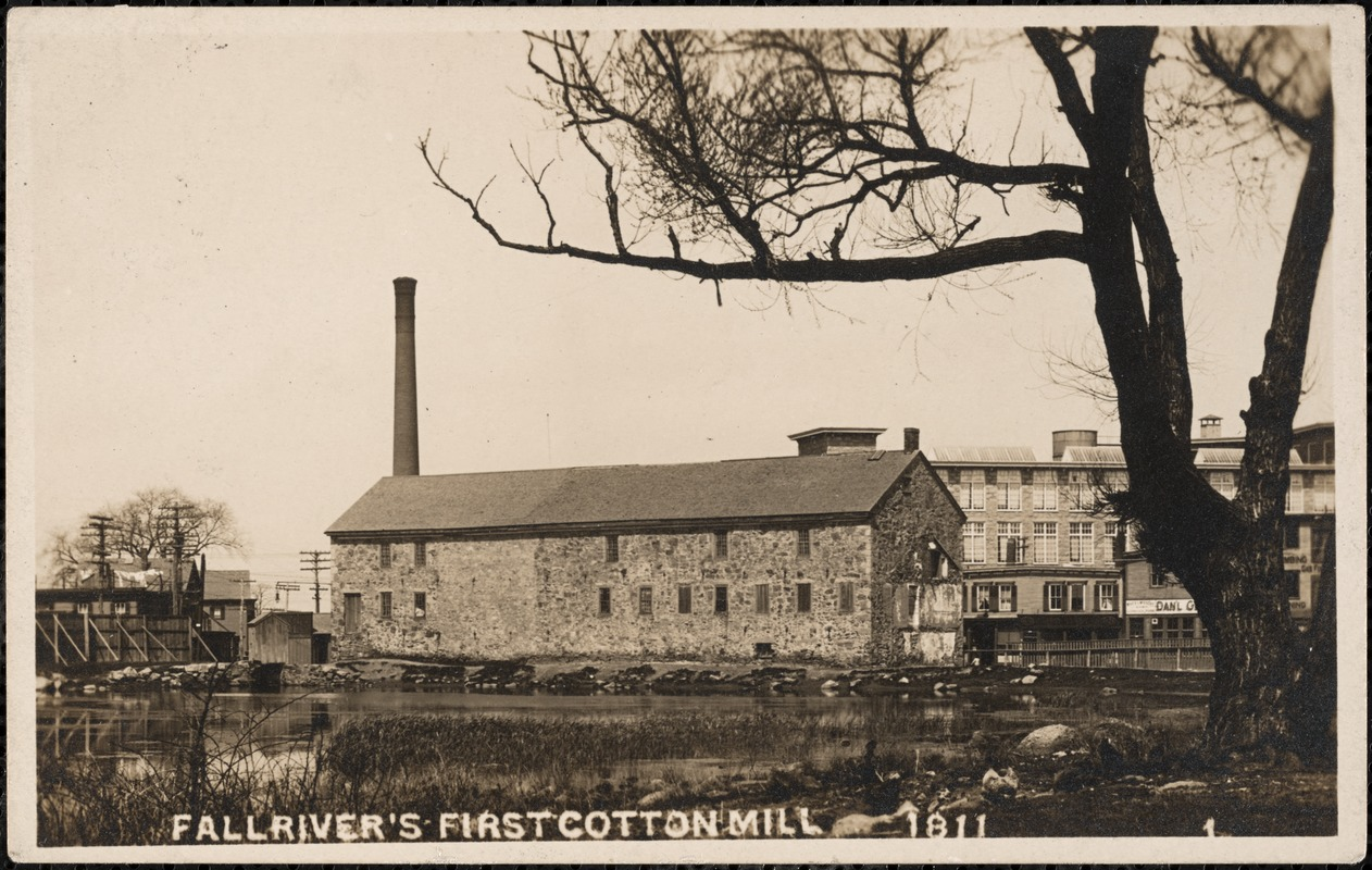 Fall River's first cotton mill 1811