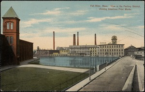 Fall River, Mass. View from the factory district showing American Print Works