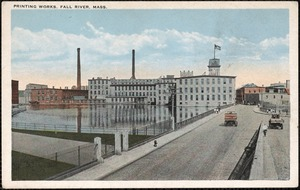 Printing works, Fall River, Mass.