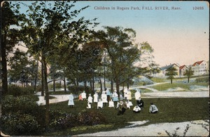 Children in Rogers Park, Fall River, Mass.