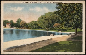 The lake in South Park, Fall River, Massachusetts