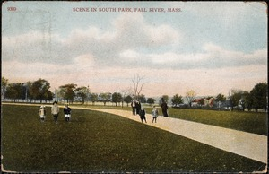 Scene in South Park, Fall River, Mass.