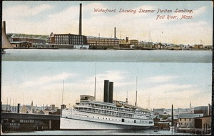 Waterfront, showing Steamer Puritan landing, Fall River, Mass.