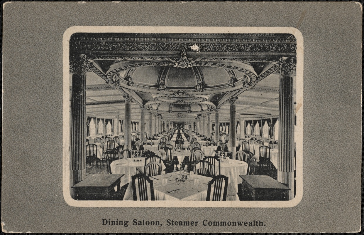 Dining saloon, Steamer Commonwealth