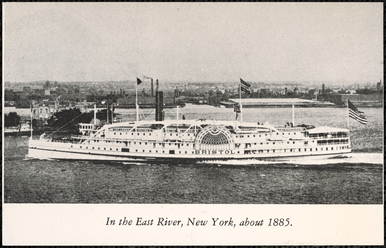 In the East River, New York, about 1885