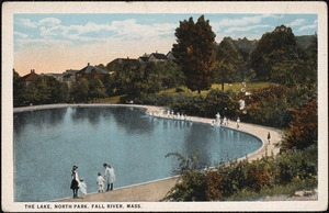 The lake, North Park, Fall River, Mass.