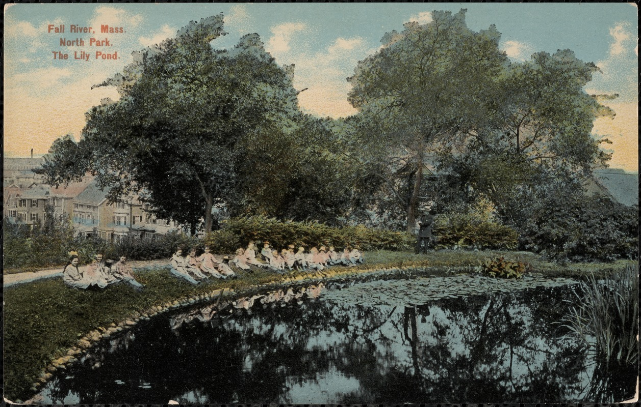 Fall River, Mass. North Park. The lily pond.
