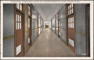 Corridor, operating suite, St. Anne's Hospital, Fall River, Mass.