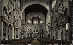 Interior of French Catholic Church, Fall River, Mass.