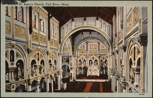 Interior. St. Anne's Church, Fall River, Mass.