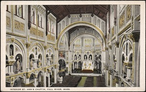 Interior. St. Ann's Church, Fall River, Mass.