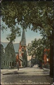 Fall River, Mass. Rock Street, Central Congregational Church and Women's Union Building