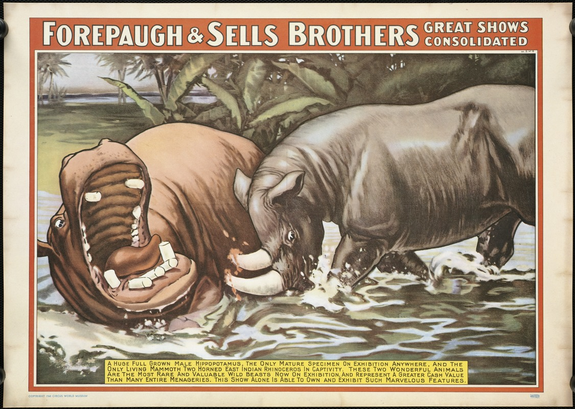 Forepaugh & Sells Brothers great shows consolidated