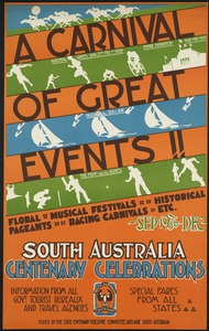 A carnival of great events!! South Australia centenary celebrations