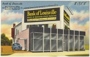 Bank of Louisville, new Broadway office, 626 W. Broadway, Louisville, Ky.