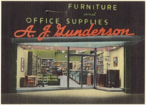 A. J. Gunderson, Furniture and Office Supplies