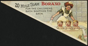 20 Mule-Team Boraxo for the childrens bath sooths the skin