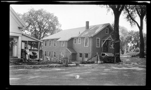 Spanish War Veterans bldg. 5/24/1930. Later Senior Citizens Drop-in Center. High School Ave.