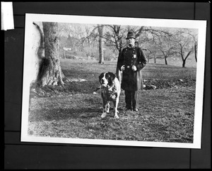 """Officer Goodhue and dog """"Carlo"""""""